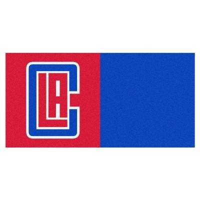 NBA Los Angeles Clippers Red and Blue Pattern 18 in. x 18 in. Carpet Tile (20 Tiles/Case)