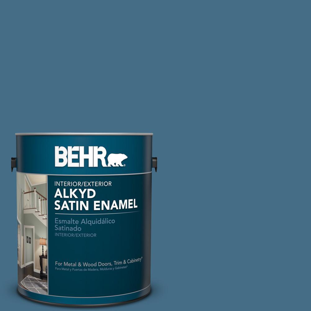 1 gal. #S500-6 Shipyard Satin Enamel Alkyd Interior/Exterior Paint