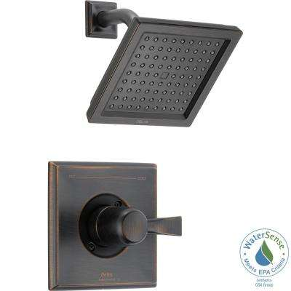 Dryden 1-Handle Shower Faucet Trim Kit in Venetian Bronze (Valve Not Included)