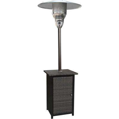 7 ft. 41,000 BTU Brown Square Wicker Propane Gas Patio Heater