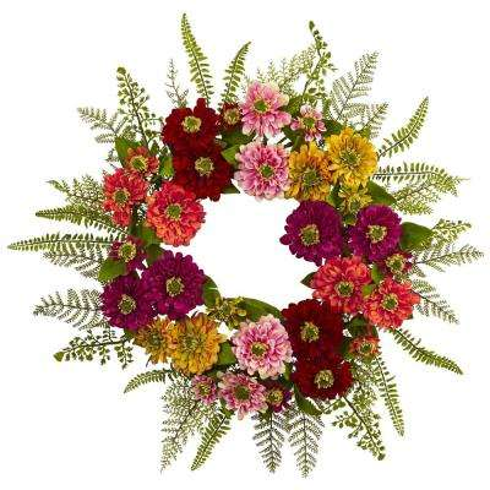 Mixed Flower 20 in. Wreath