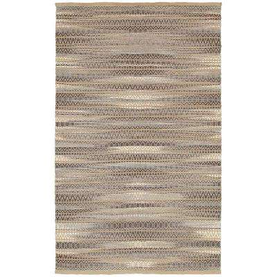 Shimmer Natural Fiber Antique Dk Gray Rectangle 9 ft. x 12 ft. Indoor Area Rug