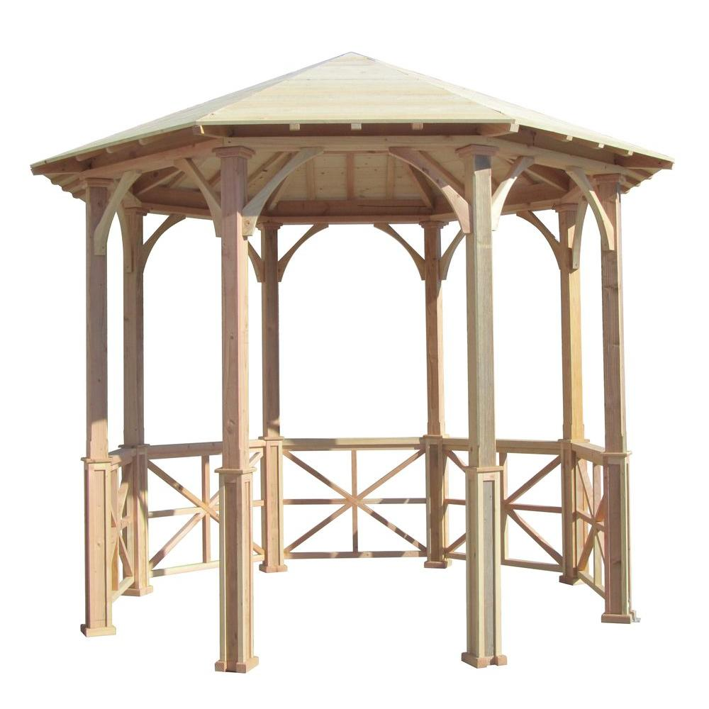 10 ft. Octagon English Cottage Garden Gazebo - Adjustable for Uneven
