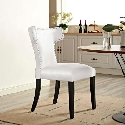 Admirable Faux Leather White Dining Chairs Kitchen Dining Room Machost Co Dining Chair Design Ideas Machostcouk