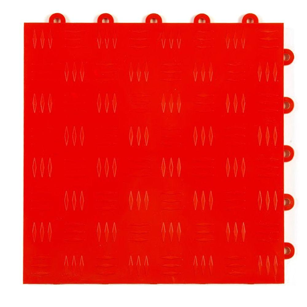 Greatmats diamond top 1 ft x 1 ft x 12 in red polypropylene greatmats diamond top 1 ft x 1 ft x 12 in red polypropylene interlocking garage floor tile case of 24 gftbestdiamred24 the home depot dailygadgetfo Choice Image
