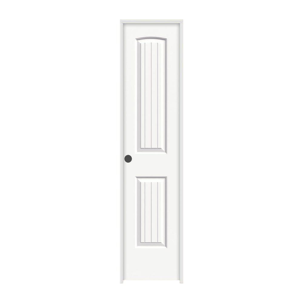 Jeld wen 18 in x 80 in santa fe white painted right hand for 18 door