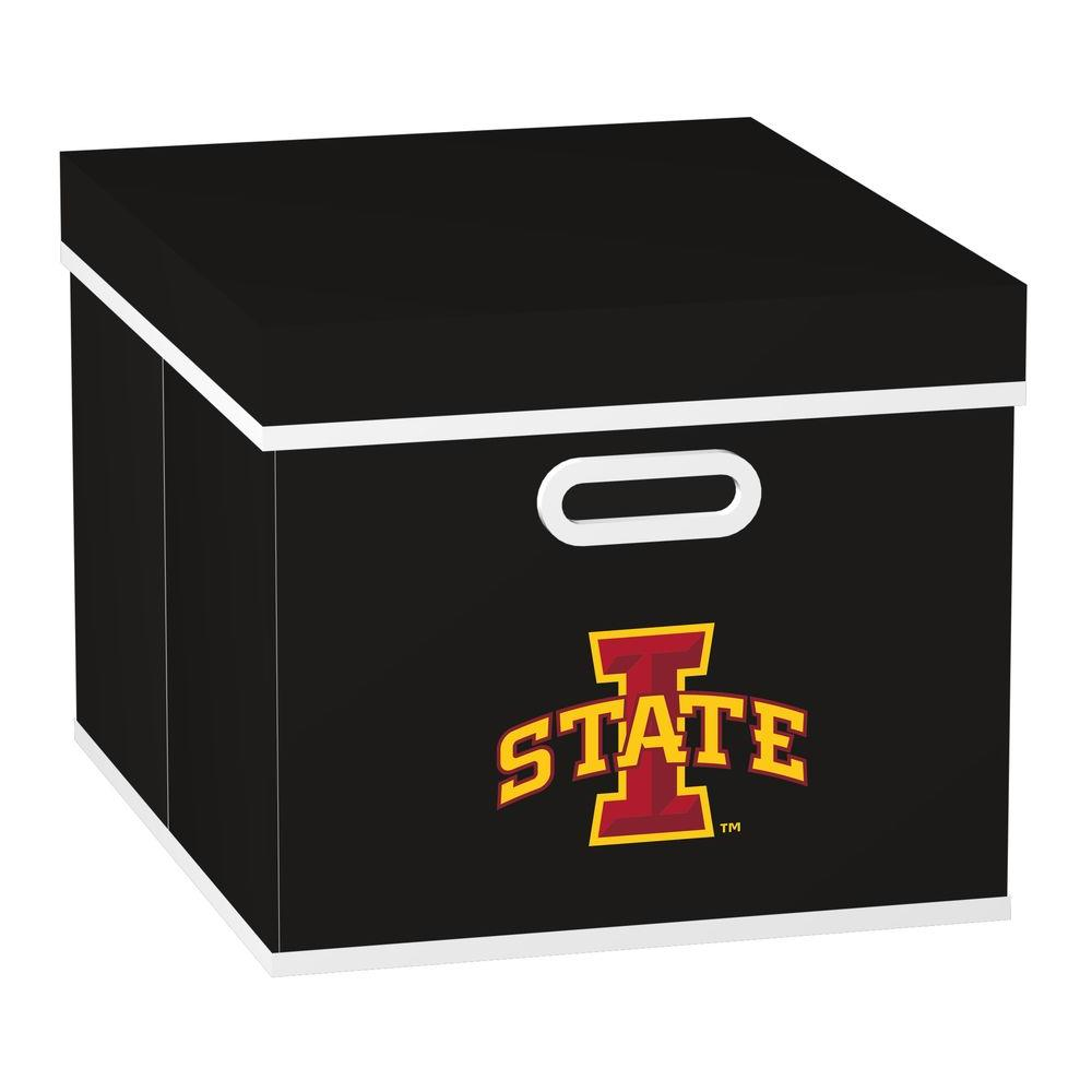 MyOwnersBox College STACKITS Iowa State University 12 in. x 10 in. x 15 in. Stackable Black Fabric Storage Cube