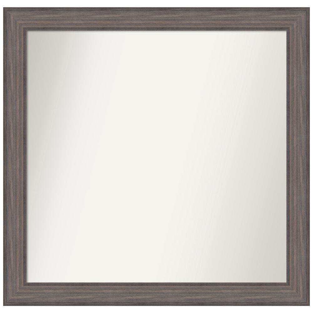 Amanti Art Choose Your Custom Size 38.25 in. x 37.25 in. Country Barnwood Decorative Wall Mirror was $549.95 now $265.07 (52.0% off)