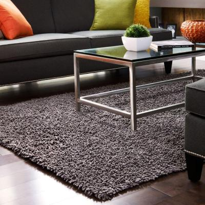 Graphite Silky Shag 5 ft. x 8 ft. Area Rug