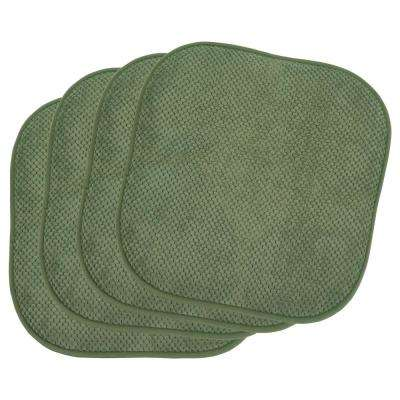 Bon Appetite Fern Green 4-Piece Cushioned Chair Pad Set
