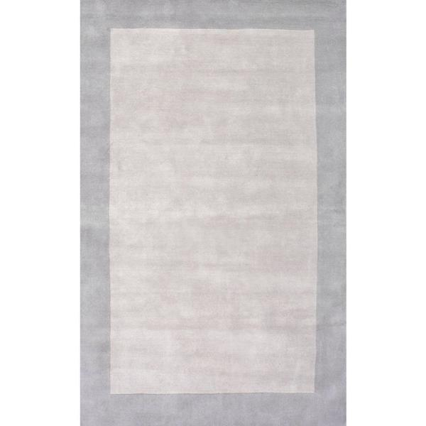 Nuloom Paine Solid Border Gray 5 Ft X