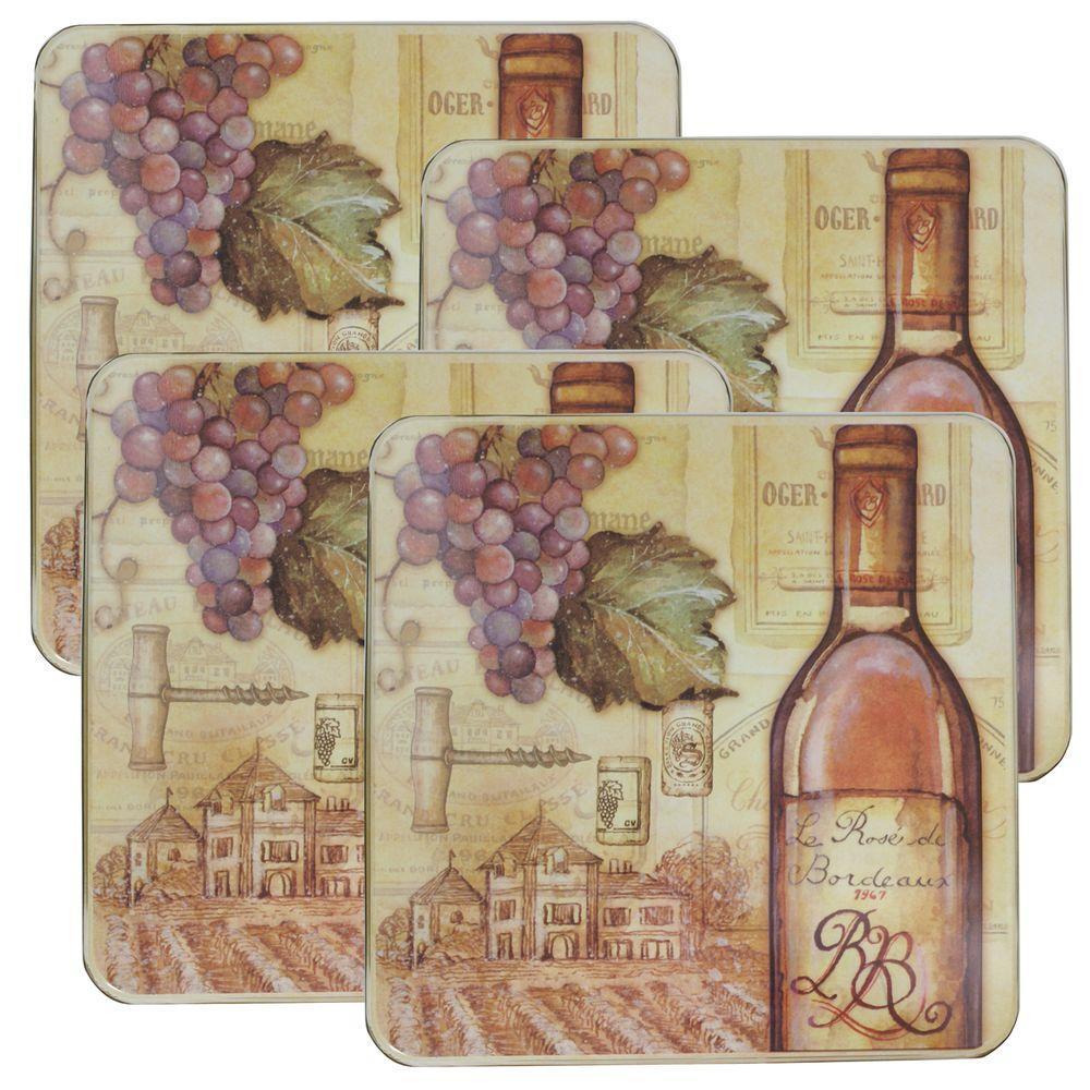 Range Kleen Square Tuscany Wine Burner Kover (4-Pack)