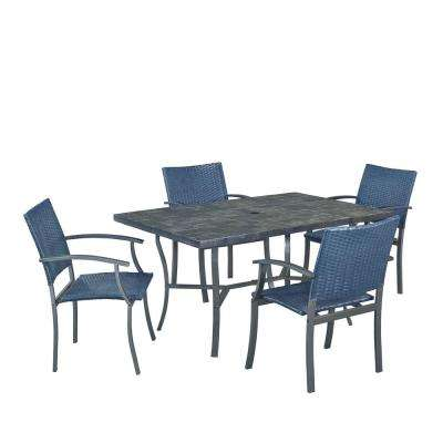 Stone Veneer 5-Piece Patio Patio Dining Set