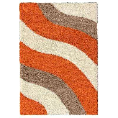 Bella Collection Orange 3 ft. 3 in. x 4 ft. 8 in. Area Rug