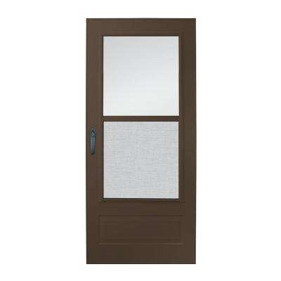 36 in. x 80 in. 100 Series Plus Bronze Self-Storing Storm Door