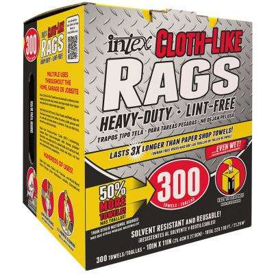 10 in. x 11 in. Cloth-Like Rags (300-Pack)