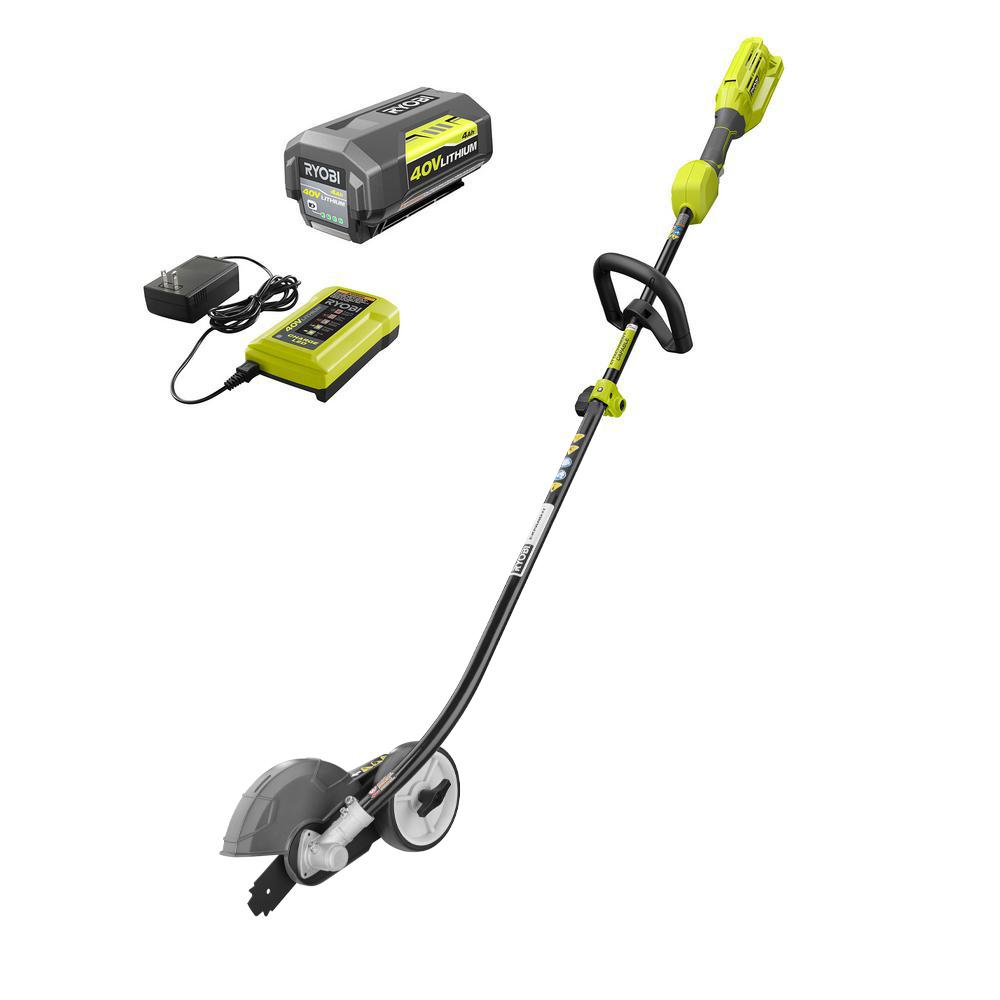RYOBI Expand-It 40-Volt Lithium-Ion Cordless Attachment Capable Edger, 4 Ah Battery and Charger Included