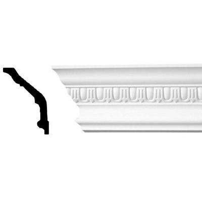 5 in. x 3 in. x 94-1/2 in. Egg and Dart Polyurethane Crown Moulding