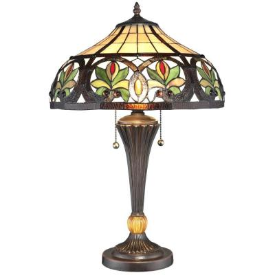 23 in. Tiffany Sunrise Bronze Table Lamp