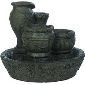 Athens Stonecasting Graphite Old World Fountain with Pump by Athens Stonecasting