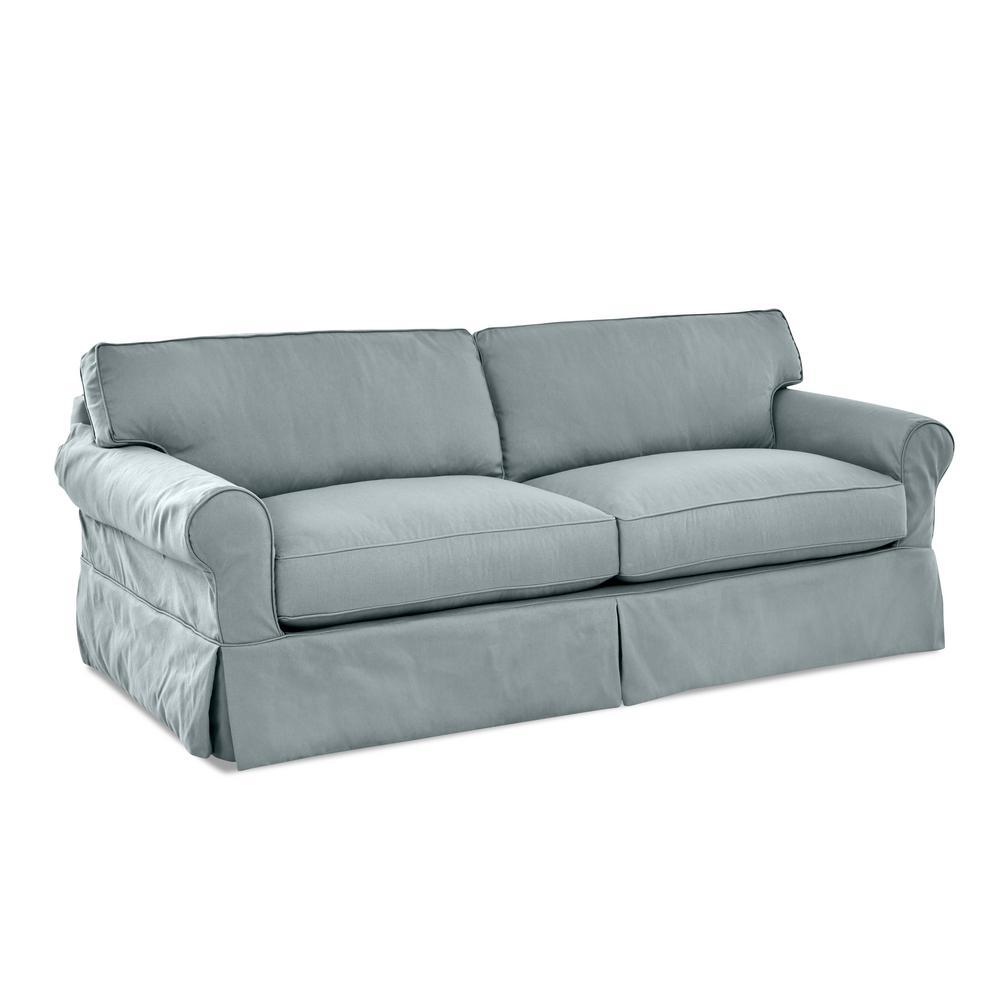 Olivia Down Blend slipcovered Sofa in Spa Blue