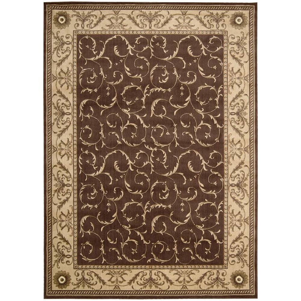 Nourison Somerset Brown 7 Ft. 9 In. X 10 Ft. 10 In. Area