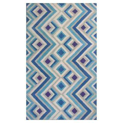 Ivory/Blue Accents 3 ft. 3 in. x 5 ft. 3 in. Area Rug