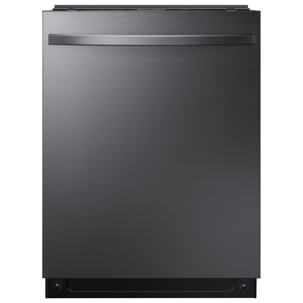 Samsung 24 in Top Control StormWash Tall Tub Dishwasher in Black Stainless Steel with AutoRelease Dry and 3rd Rack, 42 dBA