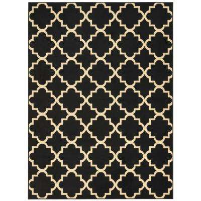 Grafix Black 5 ft. 3 in. x 7 ft. 3 in. Area Rug