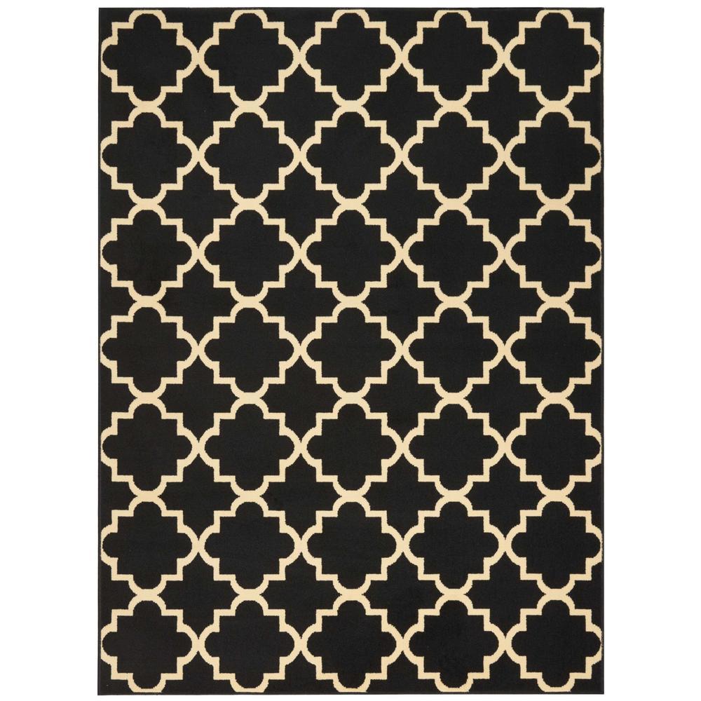 Grafix Black 7 ft. 10 in. x 9 ft. 10 in. Area Rug