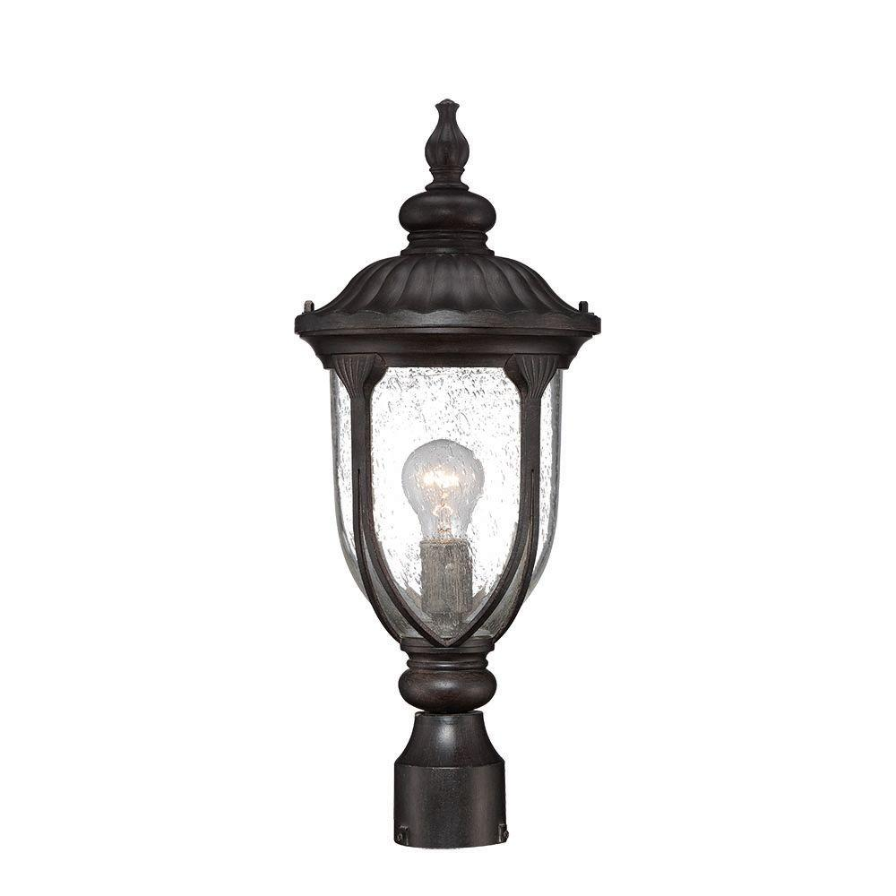 Acclaim Lighting Laurens Collection 1-Light Black Coral Outdoor Post ...