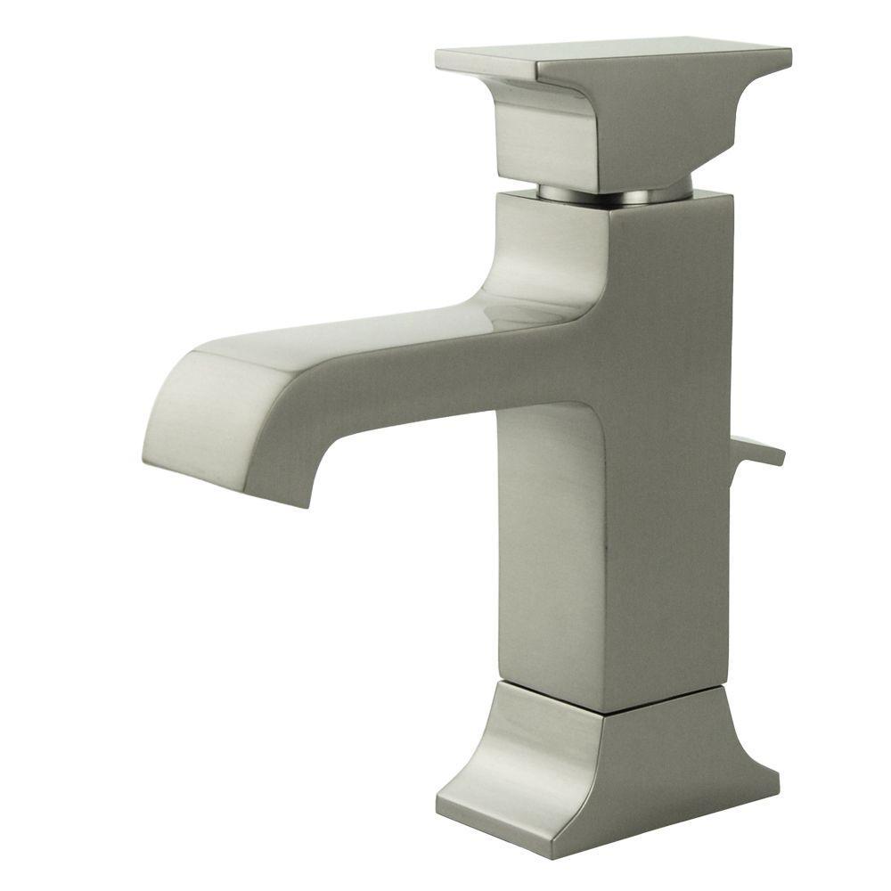 Teodoro Single Hole 1-Handle Mid Arc Bathroom Faucet in Brushed Nickel