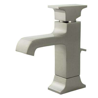 Teodoro Single Hole 1-Handle Mid Arc Bathroom Faucet in Brushed Nickel
