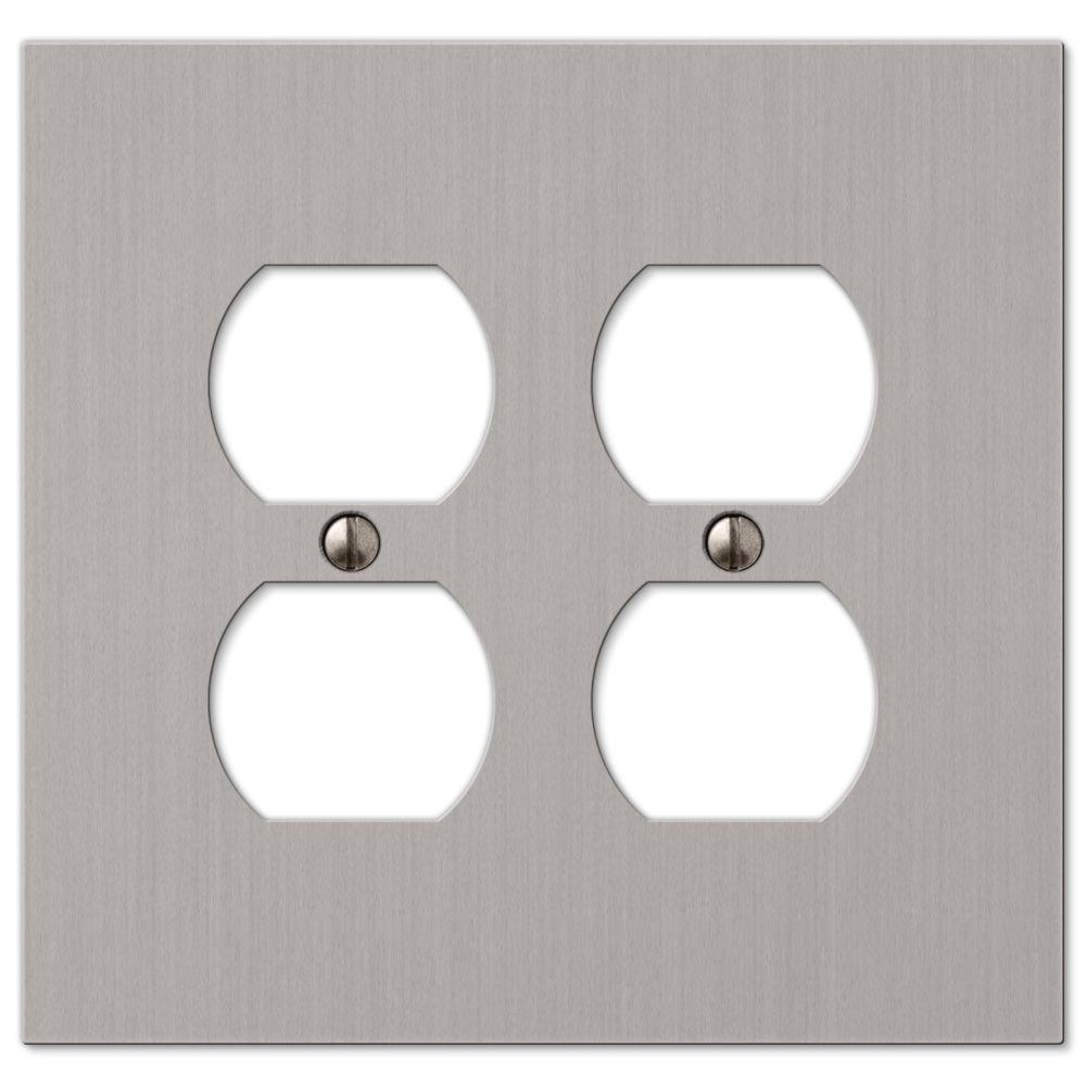 Hampton Bay Elan 2 Duplex Wall Plate - Brushed Nickel