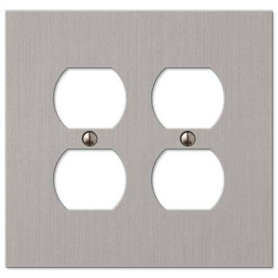 Elan 2 Duplex Wall Plate - Brushed Nickel