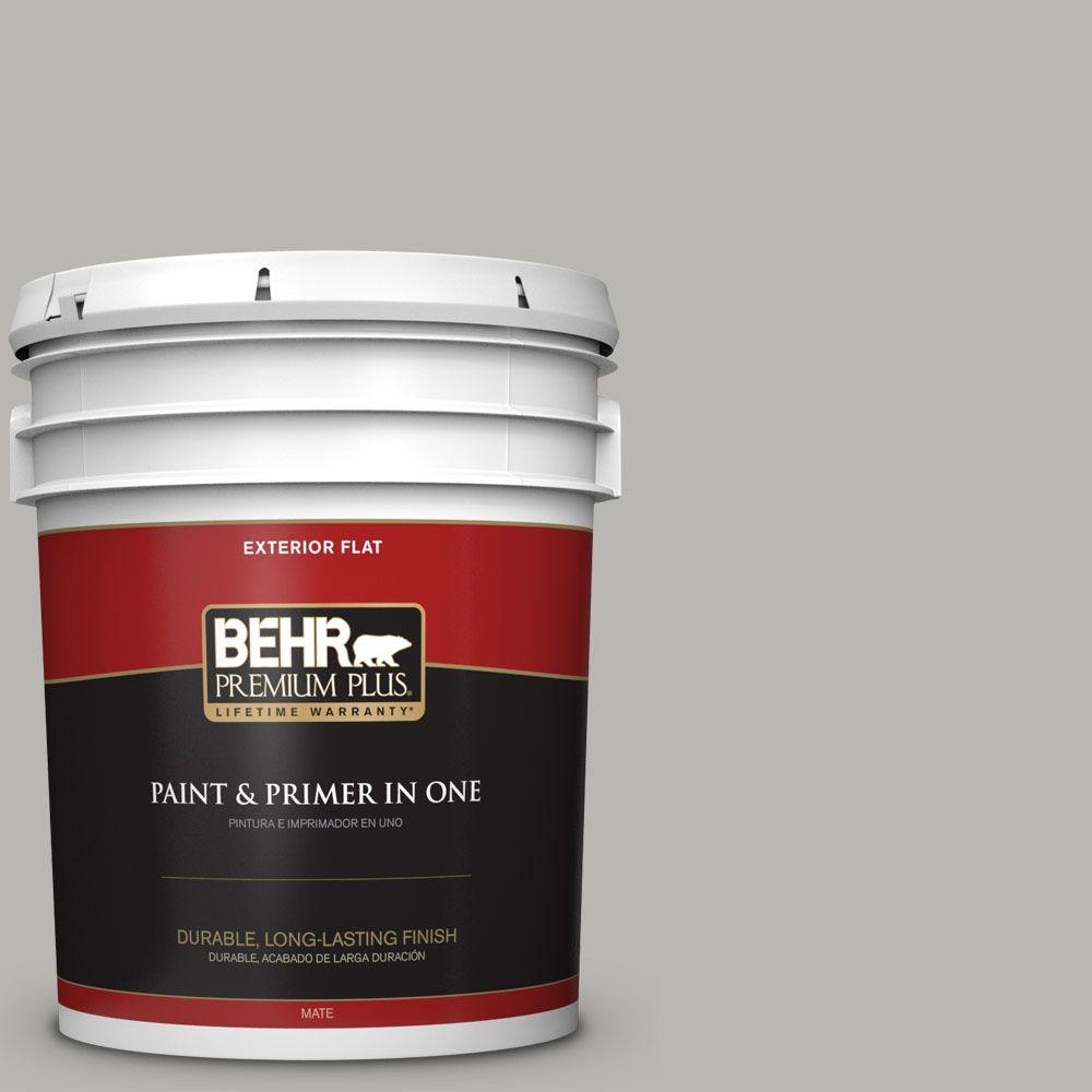 Home Decorators Collection 5-gal. #HDC-MD-26 Sonic Silver Flat Exterior Paint