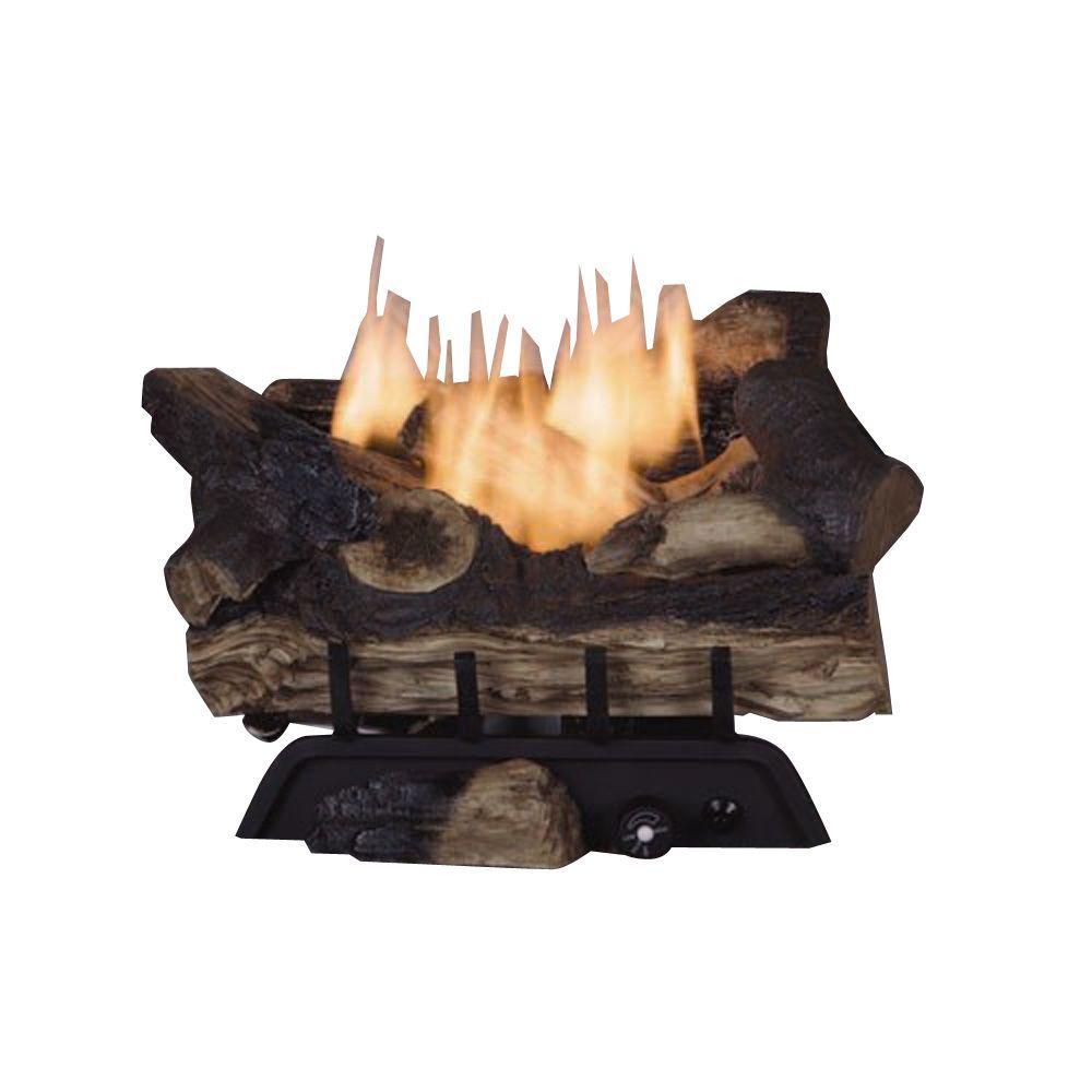 emberglow benton oak 18 in vent free natural gas fireplace log