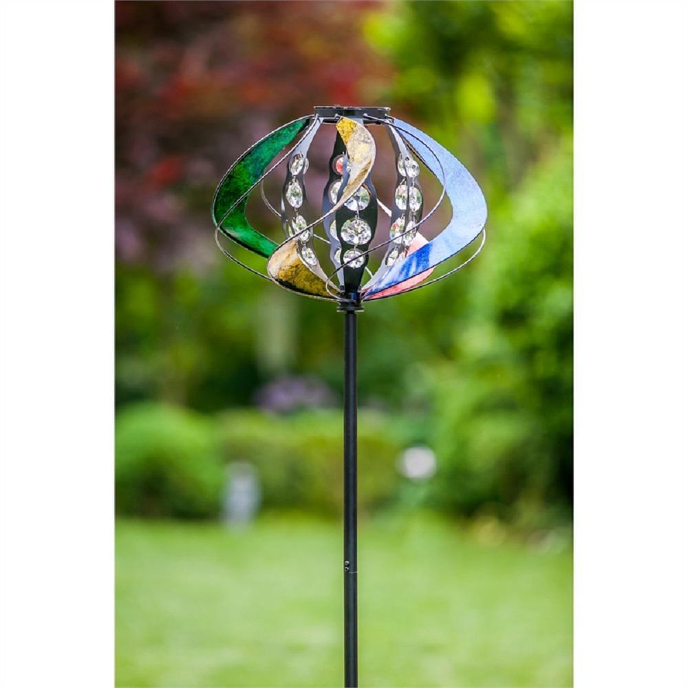 Solar Foiled Sphere 60 in. Wind Spinner