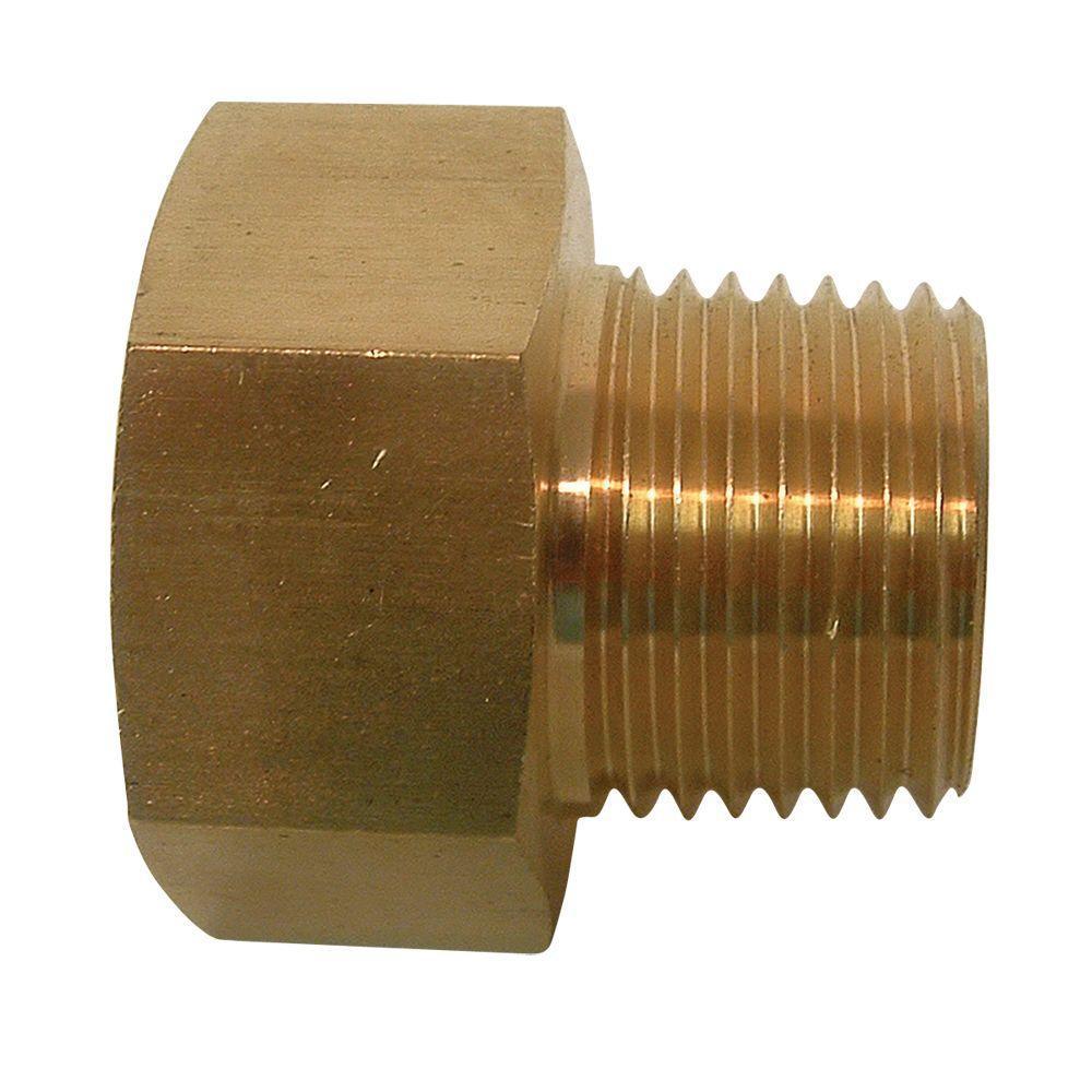 Everbilt 3/4 in. FHT x 1/2 in. MIP Lead-Free Brass Garden Hose Adapter