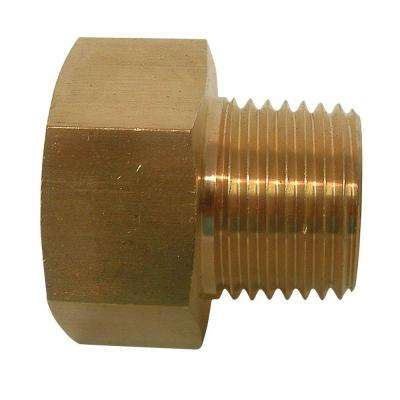 3/4 in. FHT x 1/2 in. MIP Lead-Free Brass Garden Hose Adapter