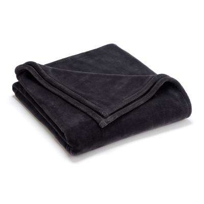 Sheared Mink Grey Polyester King Blanket