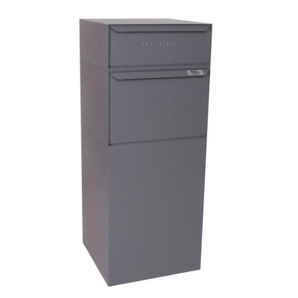 Full Service Vault Mailbox with Mail and Package Delivery in Gray