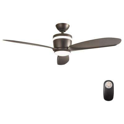 Federigo 48 in. LED Matte Black Ceiling Fan