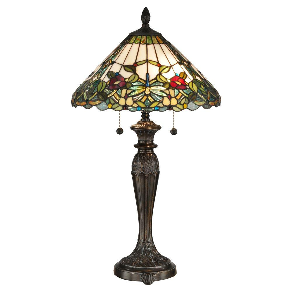 Dale Tiffany 29 in. Lenera Fieldstone Table Lamp-DISCONTINUED
