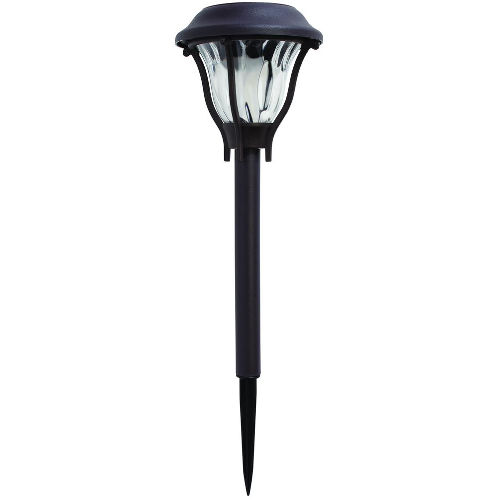 Hampton Bay Bronze Solar Led Pathway Outdoor Light 6 Pack