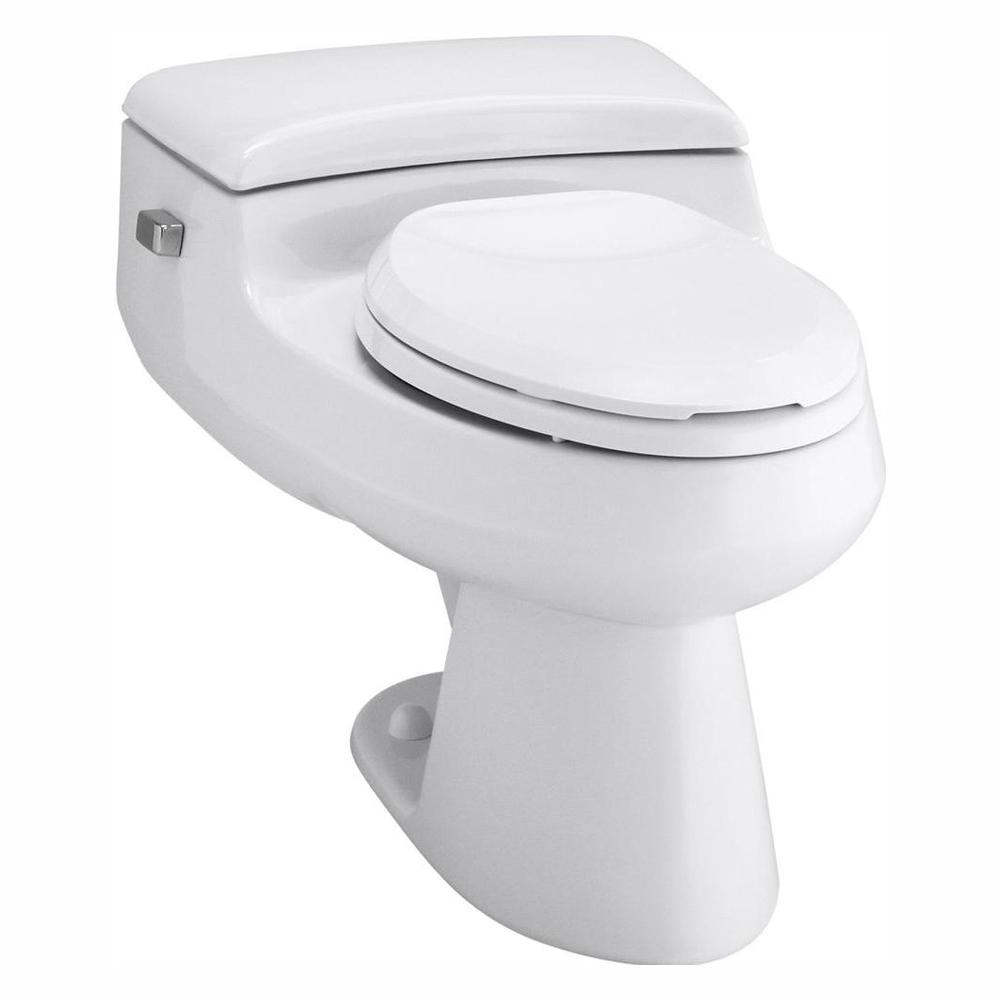 Kohler San Raphael Comfort Height 1 Piece 1 Gpf Single Flush Elongated Toilet In White Seat Included K 3597 0 The Home Depot
