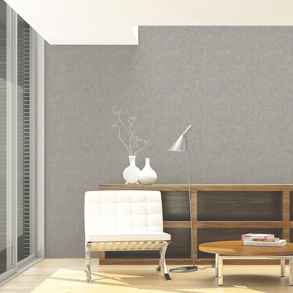 56.4 sq. ft. Holiday Taupe Faux Velvet Wallpaper