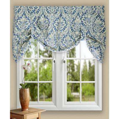 Donnington 21 in. L Cotton Lined Tie-up Valance in Cornflower