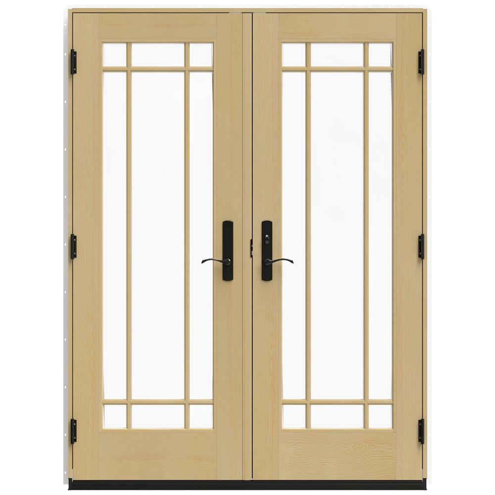 Jeld wen in x 95 5 in w 4500 brilliant white for Outswing french doors home depot