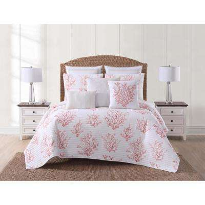 Cove Coral King Quilt Set